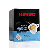 Kimbo Espresso Decaffeinato Coffee Capsules