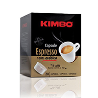 Kimbo Espresso Gold 100% Arabica Coffee Capsules